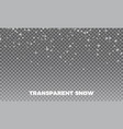 snow transparent realistic snow background vector image
