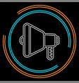 speaker volume icon - audio voice sound symbol vector image vector image