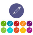 syringe icon simple black style vector image vector image