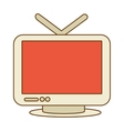 Vintage tv with antenna vector image