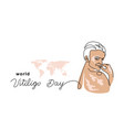 vitiligo skin simple banner poster vector image vector image