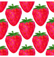 watercolor seamless pattern strawberry background vector image