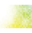 yellow green mosaic background vector image vector image