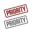 Priority Grungy ink stamp vector image
