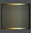 stencil lattice ornament vector image