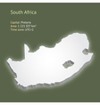 3d map of South Africa vector image