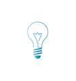 Lamp icon alternative energy innovation idea logo vector image