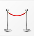 3d realistic chrome fence for red vector image