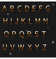 a golden alphabet vector image