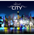 Abstract blur night city background vector image vector image