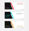 abstract flyer template vector image vector image