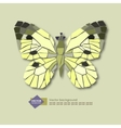 Abstract stylized butterfly on a light background vector image vector image