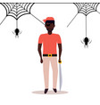 african american man wearing pirate costume vector image