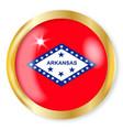 arkansas flag button vector image vector image