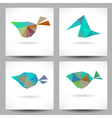 Backgrounds with abstract triangle birds vector image