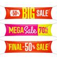 big super final mega sale vinyl banners vector image vector image