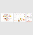 bundle of recipe card templates for making notes vector image