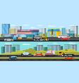 car evacuation horizontal banners vector image vector image