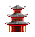 Chinese temple isolated on white vector image vector image