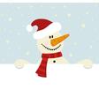 christmas happy snowman vector image vector image
