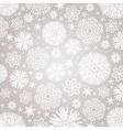 Christmas snowflakes over grey background vector image