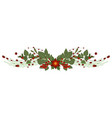 christmas tree branch decoration frame divider vector image vector image