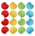 colorful seals vector image vector image