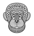 Coloring pages with head of Monkey Gorilla vector image vector image