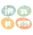 Cute tooth in different situations vector image