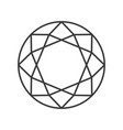 diamond cut jewelry related outline icon vector image