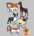 Dogs collection part 1 vector image