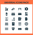drink icons set with beer tablet spacing and vector image