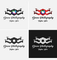 drone photography logo template vector image vector image