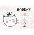 emilie cat vector image