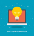 Flat design business concept vector image vector image