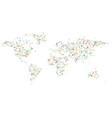 geometric simple minimalistic style world map vector image