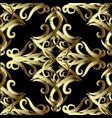 gold embroidery vintage damask seamless pattern vector image
