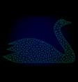 goose polygonal frame mesh vector image