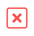 green check mark and red cross icon set approved vector image vector image