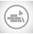 Grey building wall sign icon vector image vector image