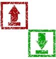 Grunge download and upload vector image
