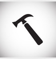 hammer tool on white background vector image