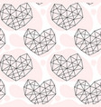 hand drawn geometric doodle seamless pattern of vector image vector image