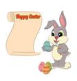 happy easter congratulatory scroll vector image vector image
