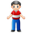 happy father waving hand vector image vector image