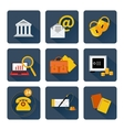 Icon set for finance and banking services vector image vector image