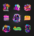 jazz blackboard set vector image vector image