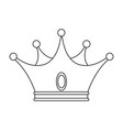 king crown luxury symbol vector image