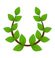 laurel wreath branch with leaves isolated ancient vector image vector image