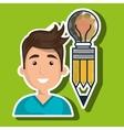 man young idea icon vector image vector image